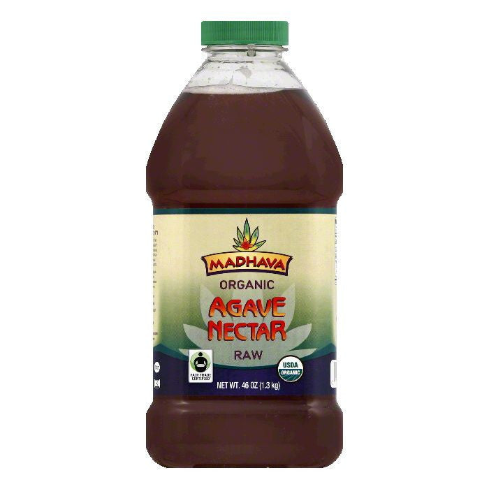 Madhava Raw Organic Nectar, 46 OZ (Pack of 6)