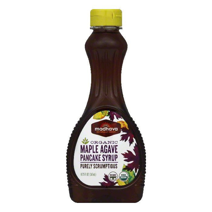 Madhava Organic Maple Agave Pancake Syrup, 11.75 FO (Pack of 6)