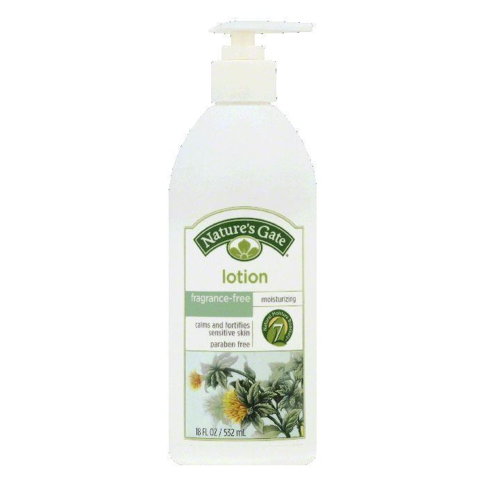 Natures Gate Fragrance-Free Moisturizing Lotion, 18 OZ
