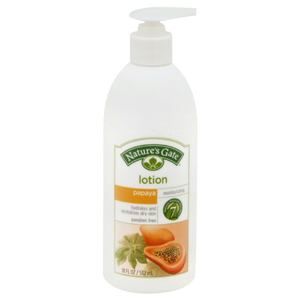 Natures Gate Papaya Moisturizing Lotion, 18 Oz