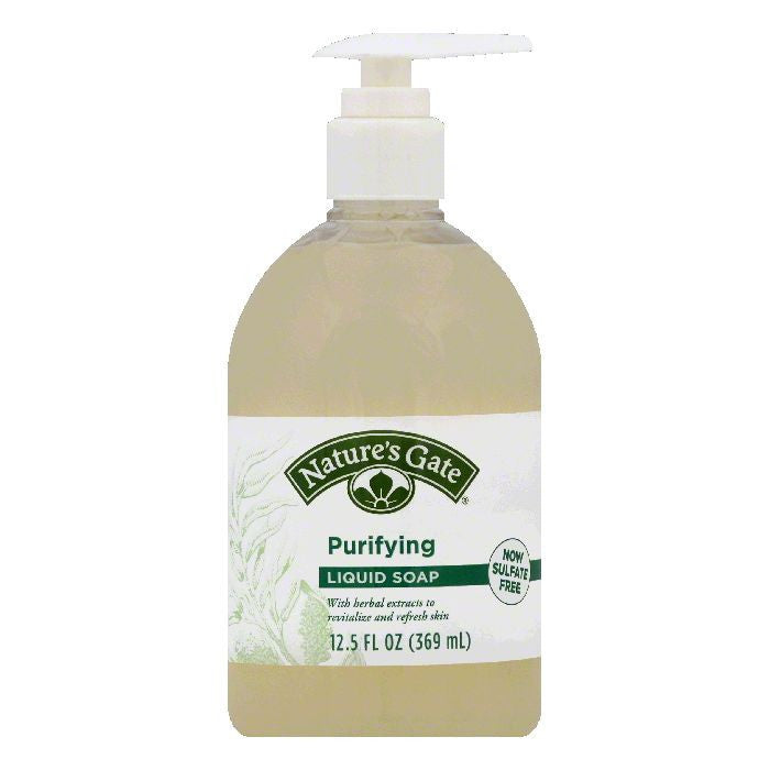 Natures Gate Purifying Liquid Soap, 12.5 OZ