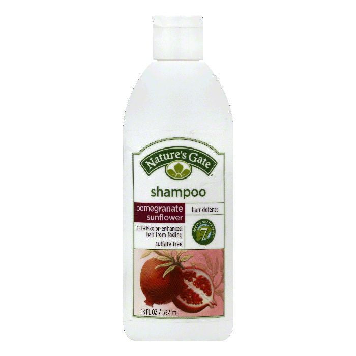 Natures Gate Pomegranate Sunflower Hair Defense Shampoo, 18 OZ