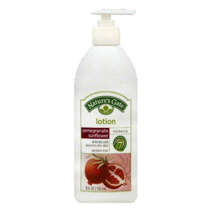 Natures Gate Pomegranate Sunflower Moisturizing Lotion, 18 OZ