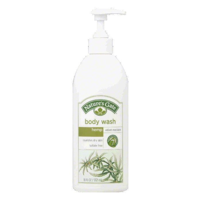 Natures Gate Hemp Velvet Moisture Body Wash, 18 Oz