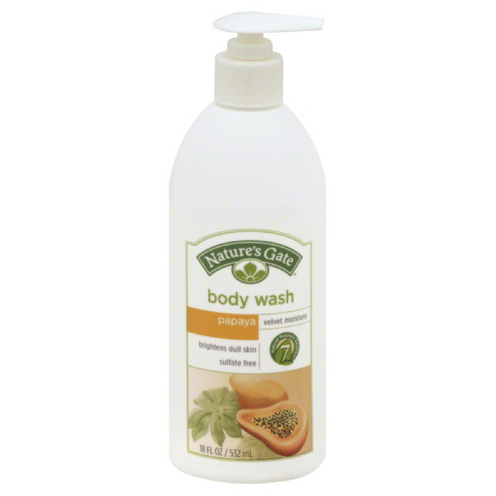Natures Gate Papaya Velvet Moisture Body Wash, 18 Oz