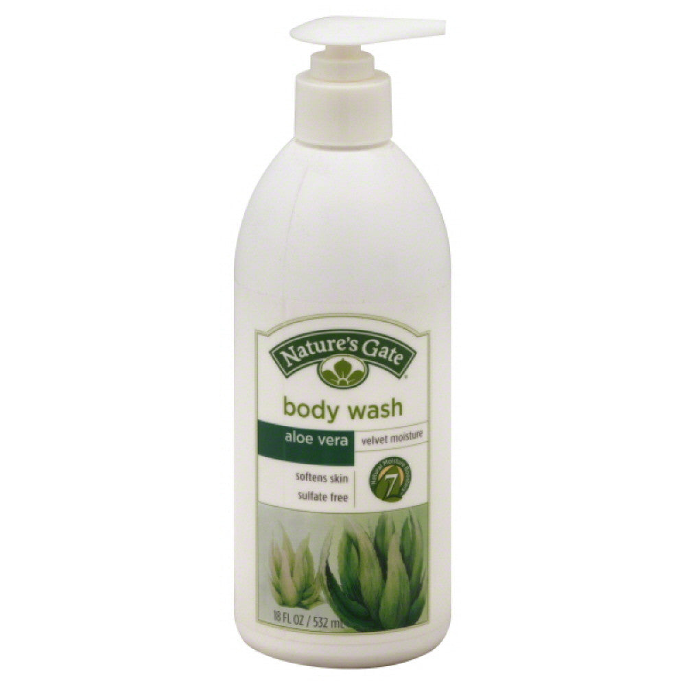 Natures Gate Velvet Moisture Aloe Vera Body Wash, 18 Oz