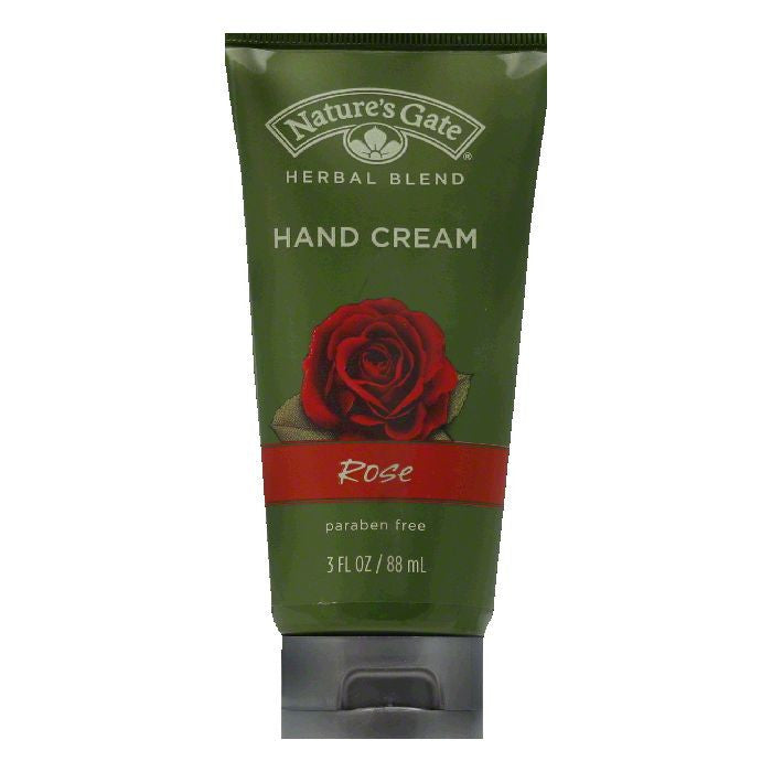 Natures Gate Rose Hand Cream, 3 OZ