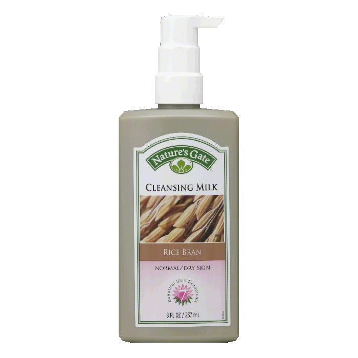 Natures Gate Normal/Dry Skin Rice Bran Cleansing Milk, 8 FO