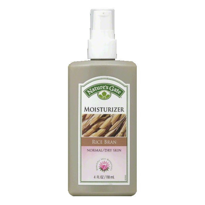 Natures Gate Normal/Dry Skin Rice Bran Moisturizer, 4 FO