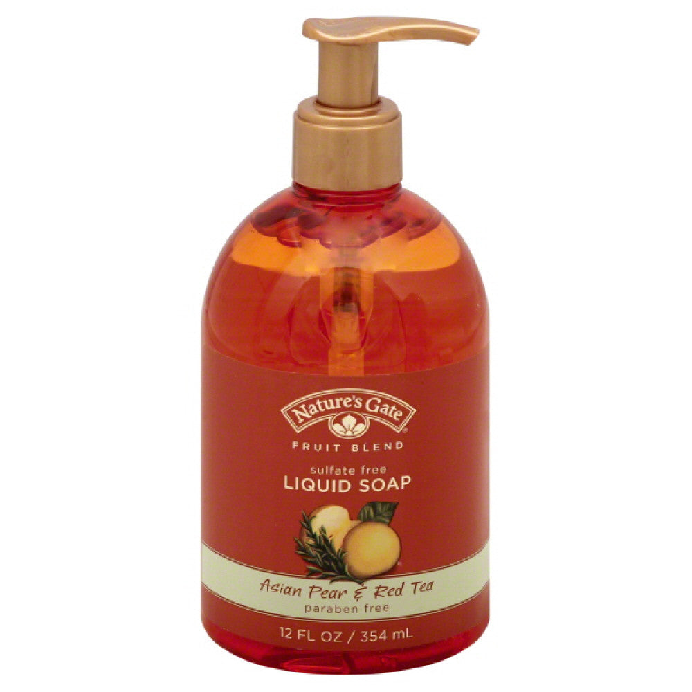 Natures Gate Asian Pear & Red Tea Liquid Soap, 12 Oz