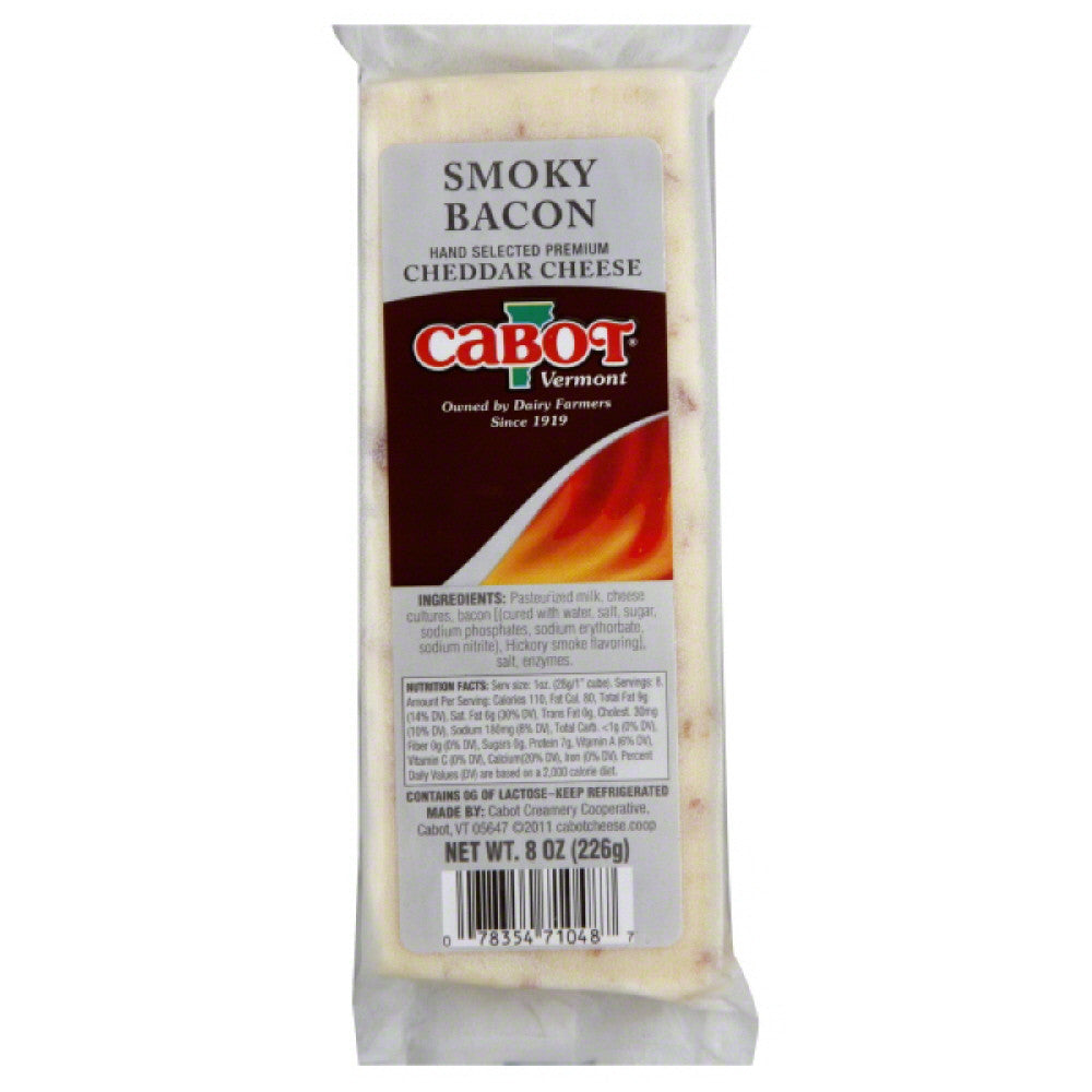 Cabot Smoky Bacon Cheddar Cheese, 8 Oz (Pack of 12)