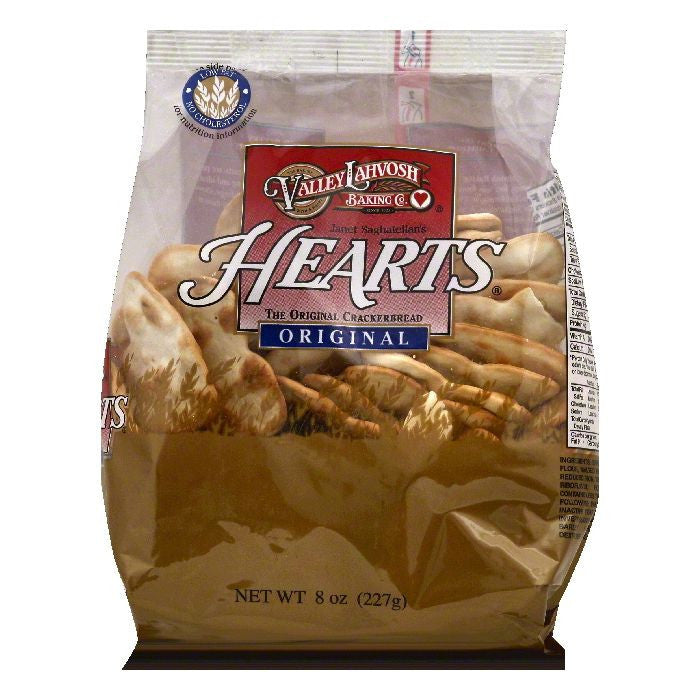 Valley Lahvosh Hearts Original Crackerbread, 8 OZ (Pack of 12)