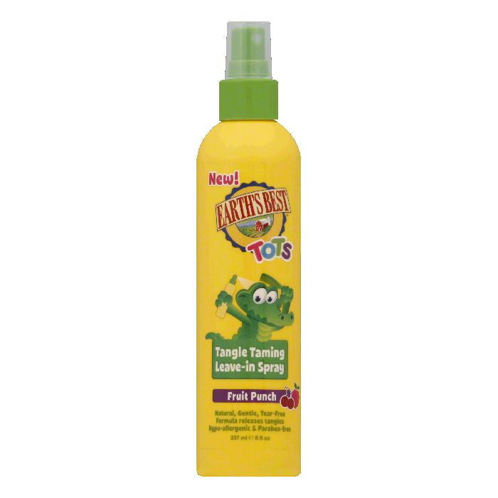 Earths Best Fruit Punch Tangle Taming Leave-In Spray, 8 Oz
