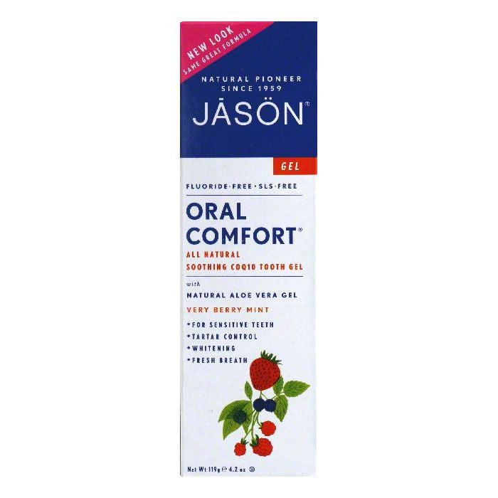 Jason Natural Oral Comfort Plus CoQ10 Gel Toothpaste, 4.2 OZ