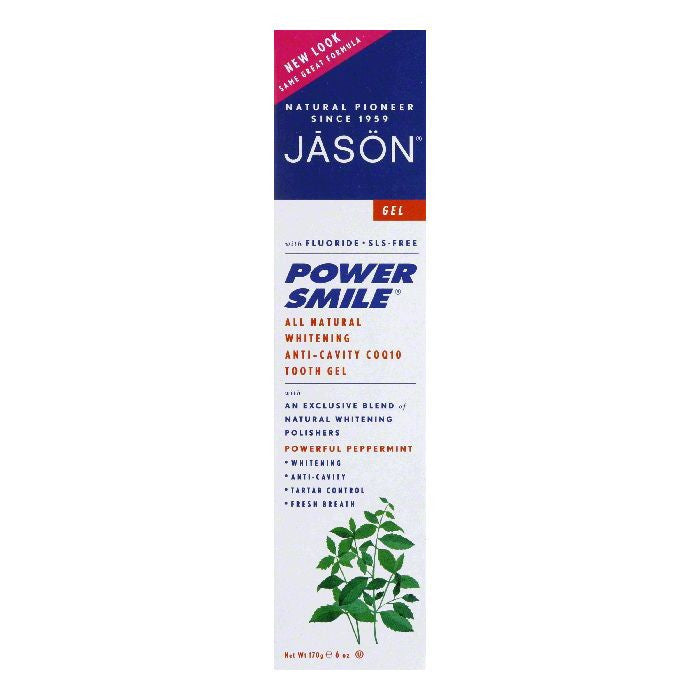 Jason Natural PowerSmile Plus CoQ10 Gel Toothpaste, 6 OZ