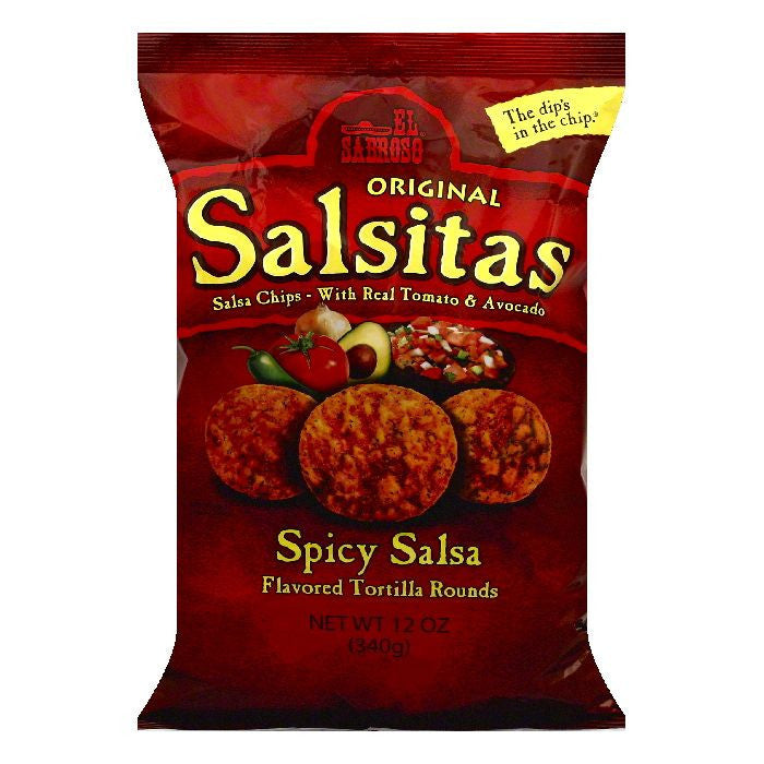 El Sabroso Spicy Salsa Original Tortilla Rounds, 12 OZ (Pack of 12)