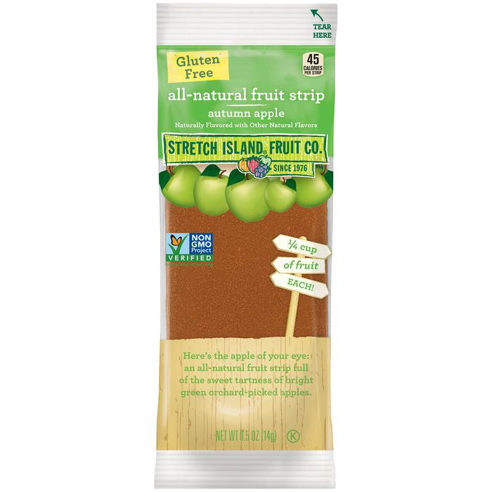 Stretch Island Autumn Apple All-Natural Fruit Strip 0.5 Oz Pack (Pack of 30)