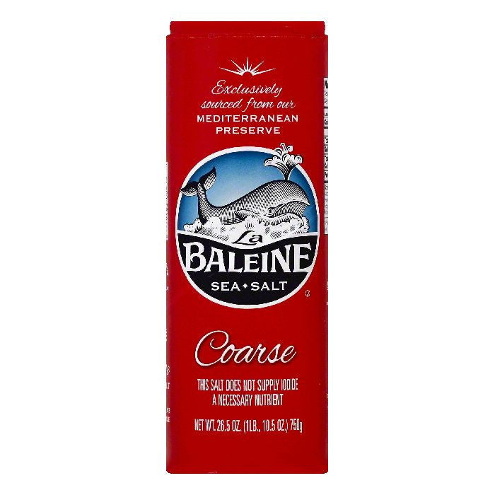 La Baleine Coarse Sea Salt, 26.5 OZ (Pack of 12)