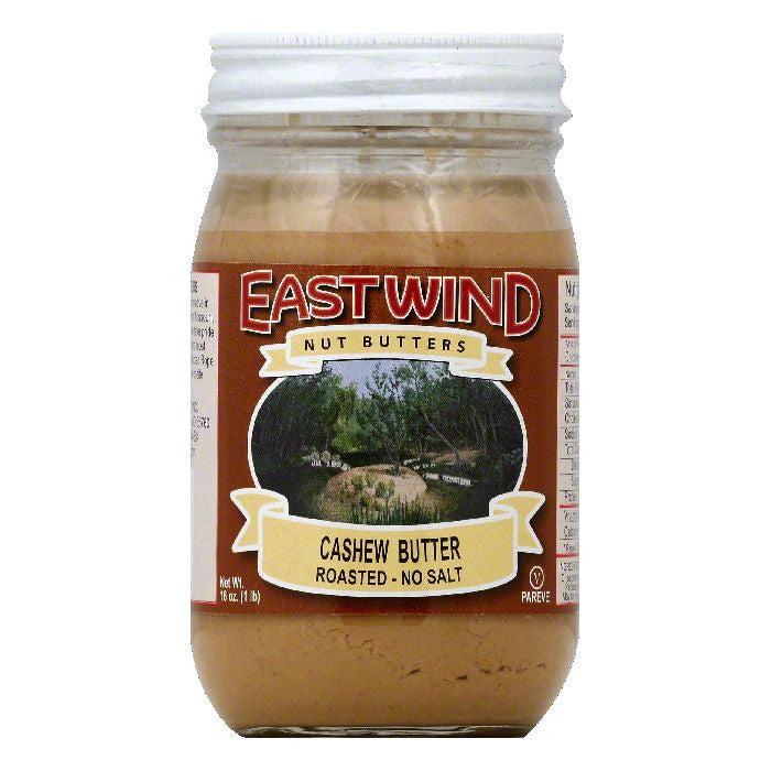 East Wind No Salt Roasted Cashew Butter, 16 OZ (Pack of 12)
