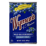 Wymans in Light Syrup Wild Blueberries, 15 OZ (Pack of 12)