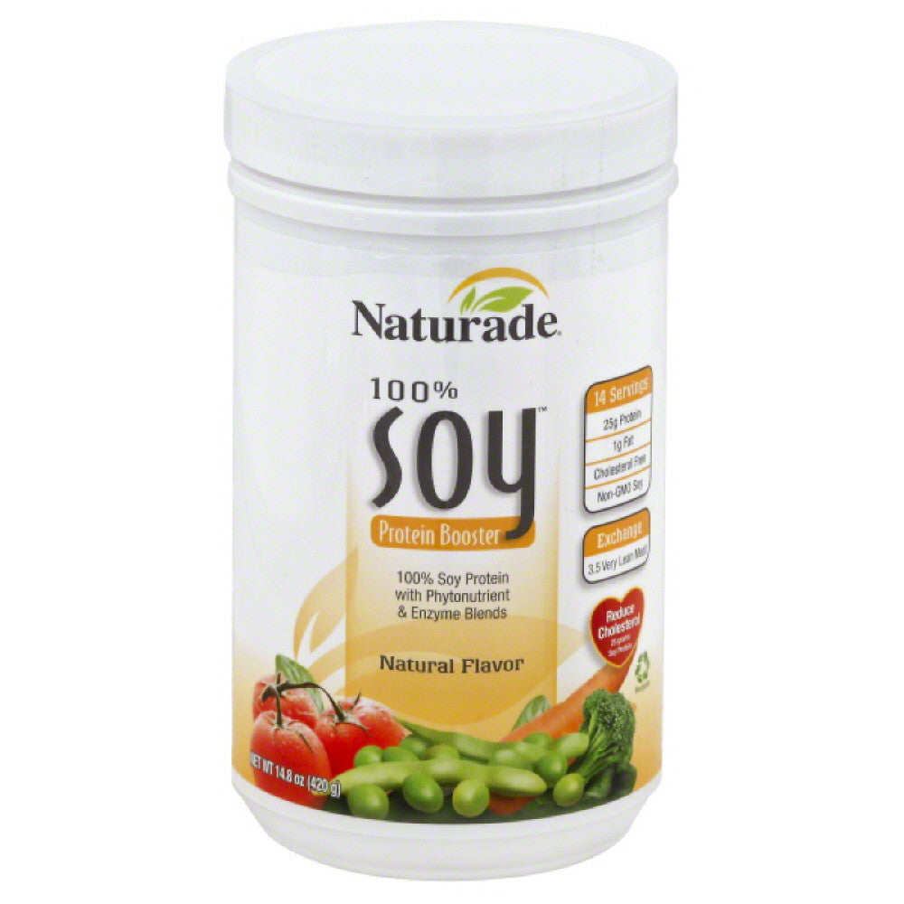 Naturade Natural Flavor 100% Soy Protein Booster, 14.8 Oz