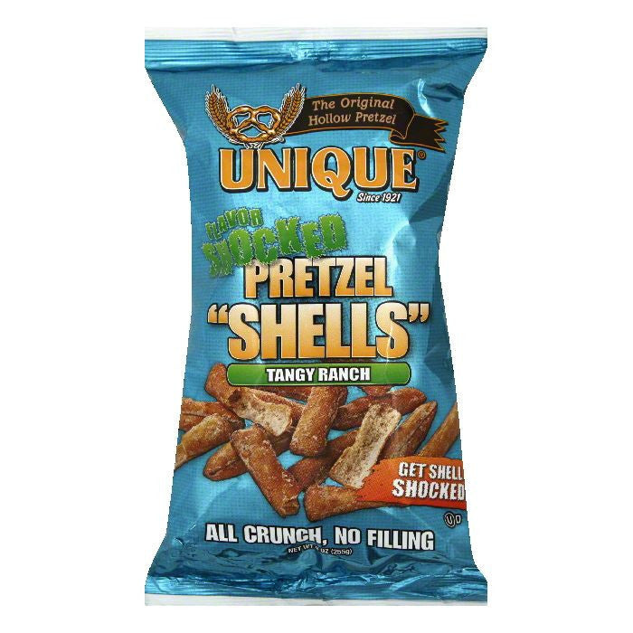 Unique Tangy Ranch Pretzel Shells, 9 OZ (Pack of 12)