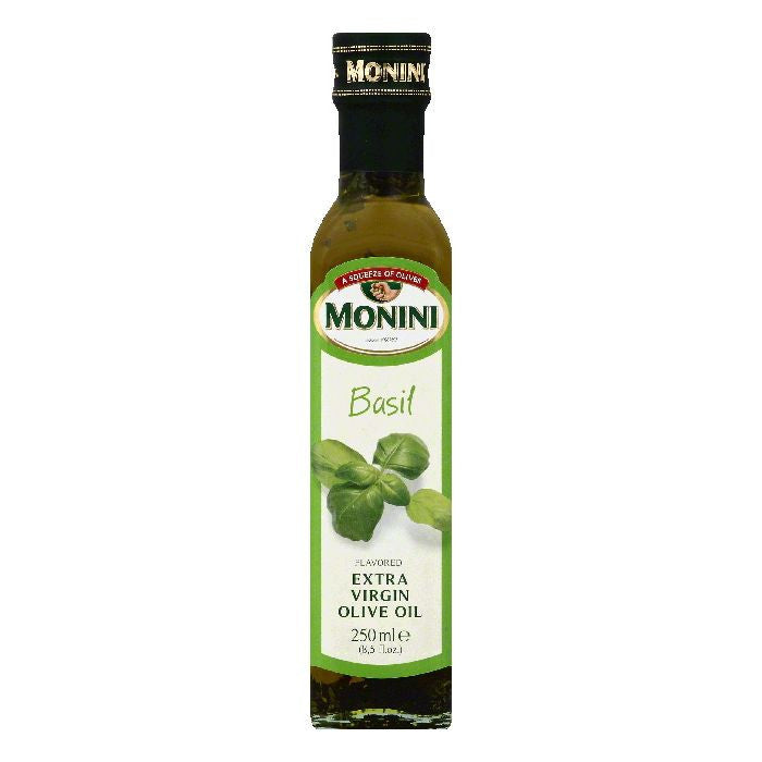 Monini Basil Flavored Extra Virgin Olive Oil, 8.5 OZ (Pack of 6)