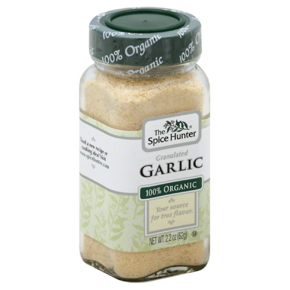 Spice Hunter 100% Organic Granulated Garlic, 2.2 Oz (Pack of 6)