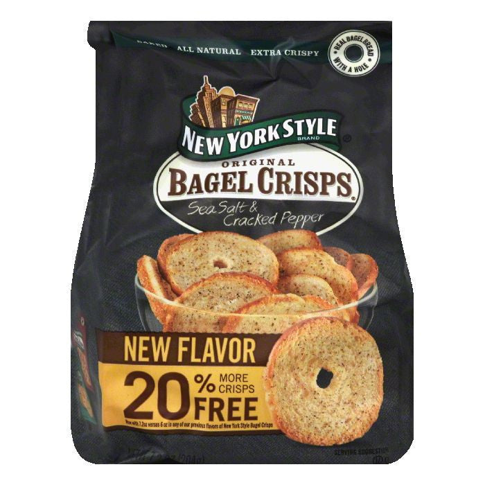 New York Style Bagel Crisp Seasalt Crkd Pepper, 7.2 OZ (Pack of 12)