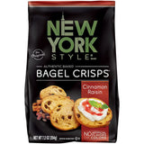 New York Style Cinamon Raisin Bagel Crisps 7.2 Oz Bag (Pack of 12)