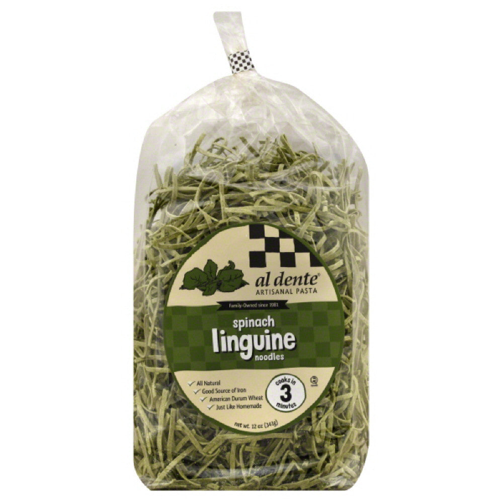 Al Dente Spinach Linguine, 12 Oz (Pack of 6)