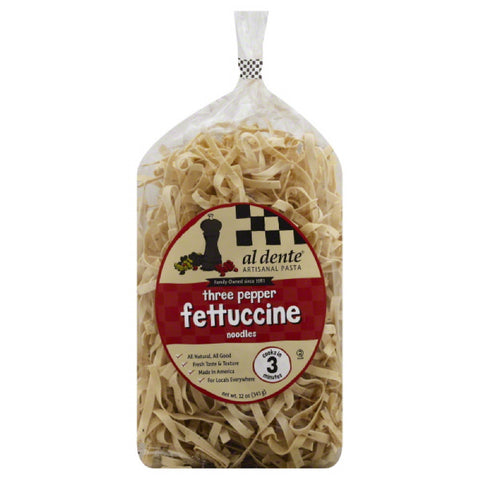 Al Dente Three Pepper Fettuccine Noodles, 12 Oz (Pack of 6)