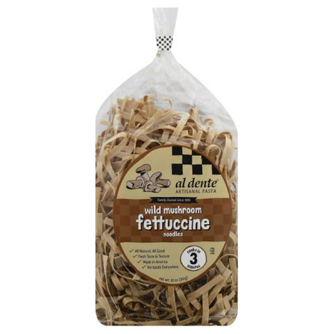 Al Dente Fettuccine Noodles Wild Mushroom, 12 Oz (Pack of 6)