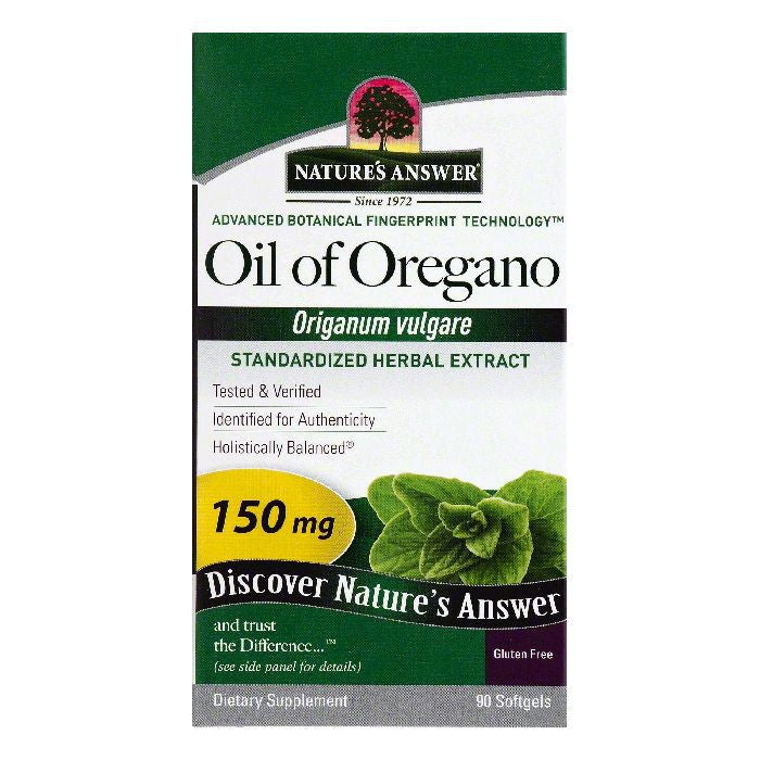 Natures Answer Softgels 150 mg Oil of Oregano, 90 ea