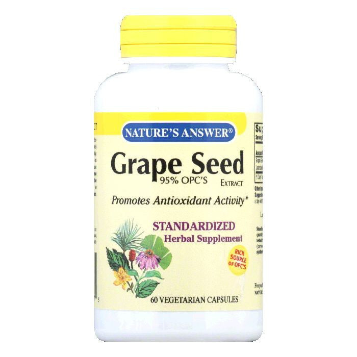 Nature's Answer Grape Seed Standarized, 60 VC