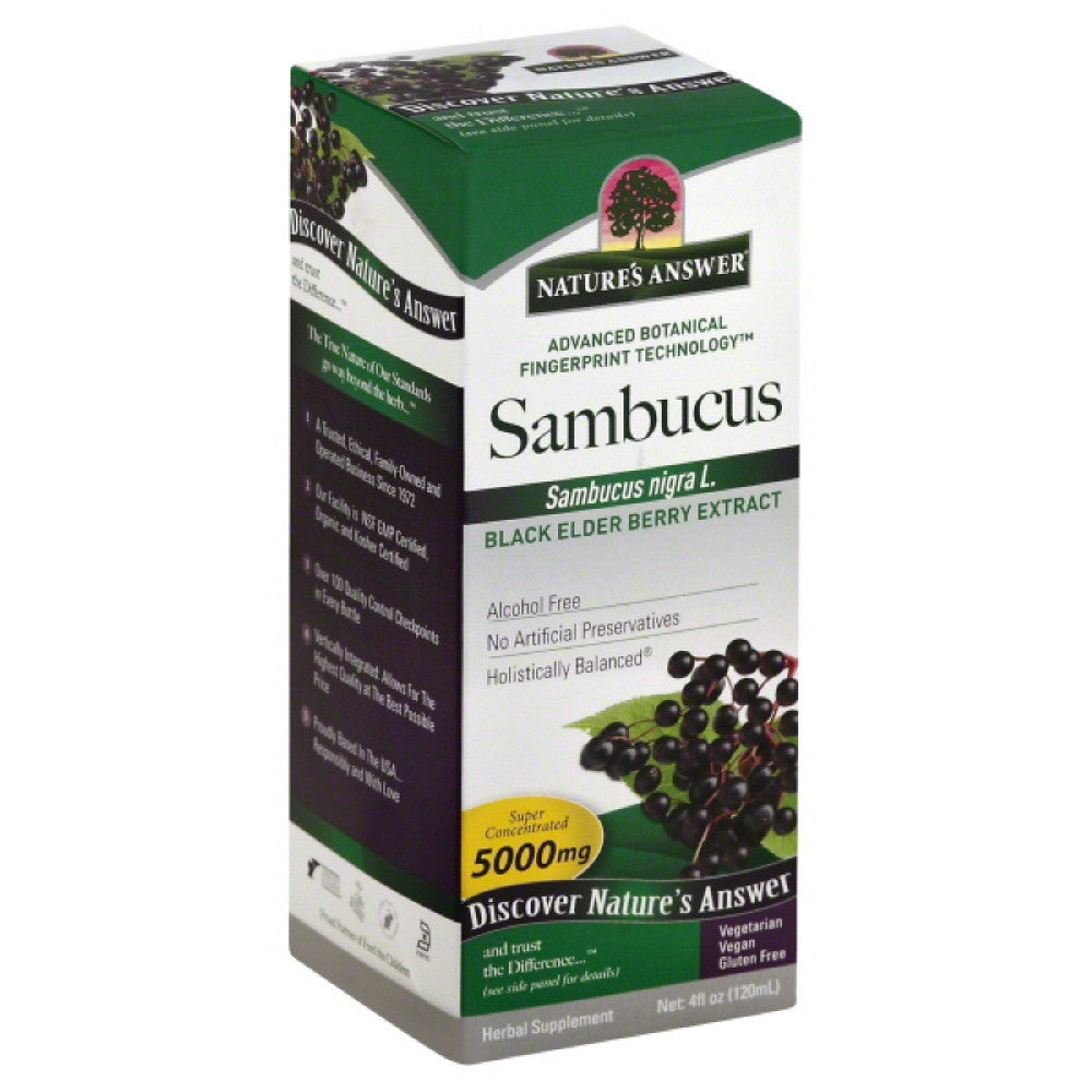 Natures Answer Extract 5000 mg Super Concentrated Sambucus, 4 Oz