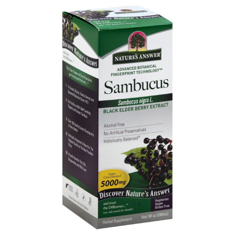 Natures Answer Liquid 5000 mg Super Concentrated Sambucus, 8 Oz