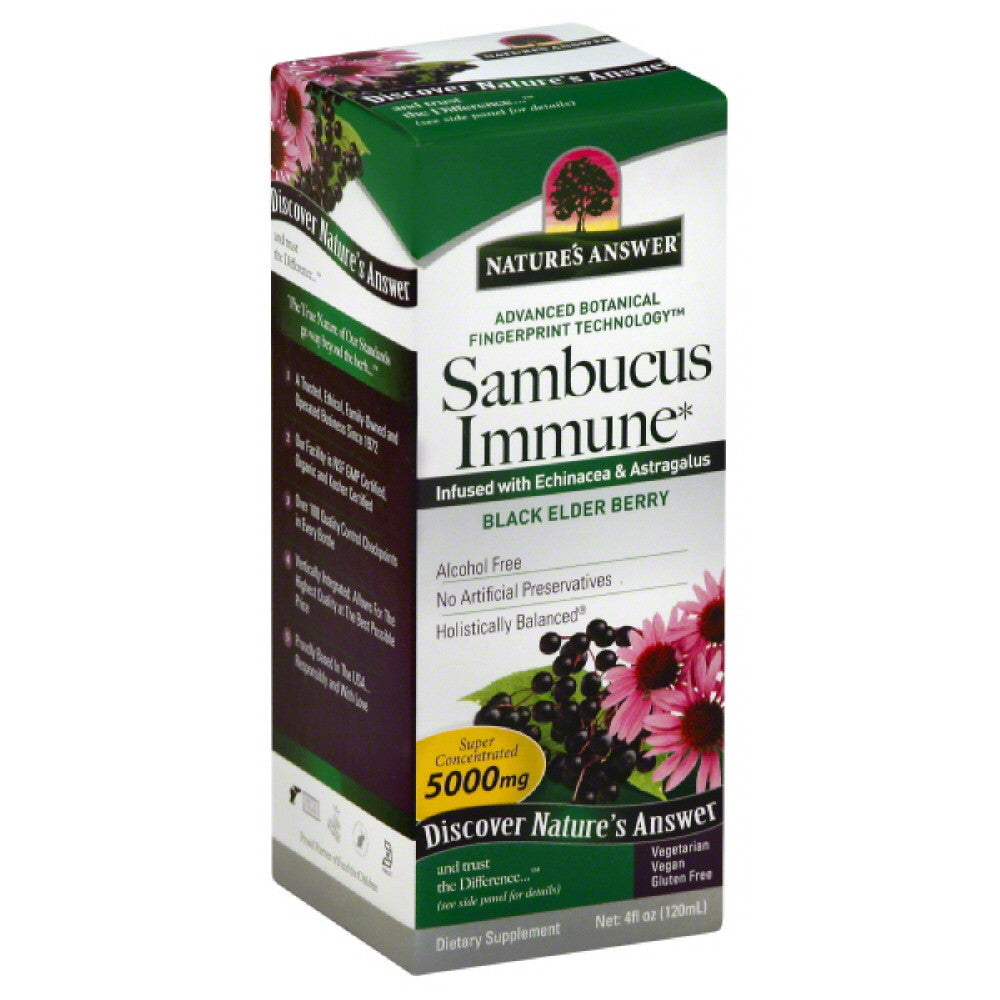 Natures Answer Black Elder Berry  Super Concentrated Sambucus Immune, 4 Oz