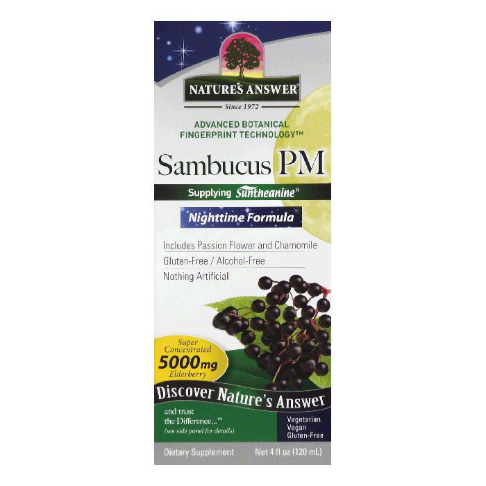 Natures Answer Nighttime Formula Sambucus PM, 4 OZ