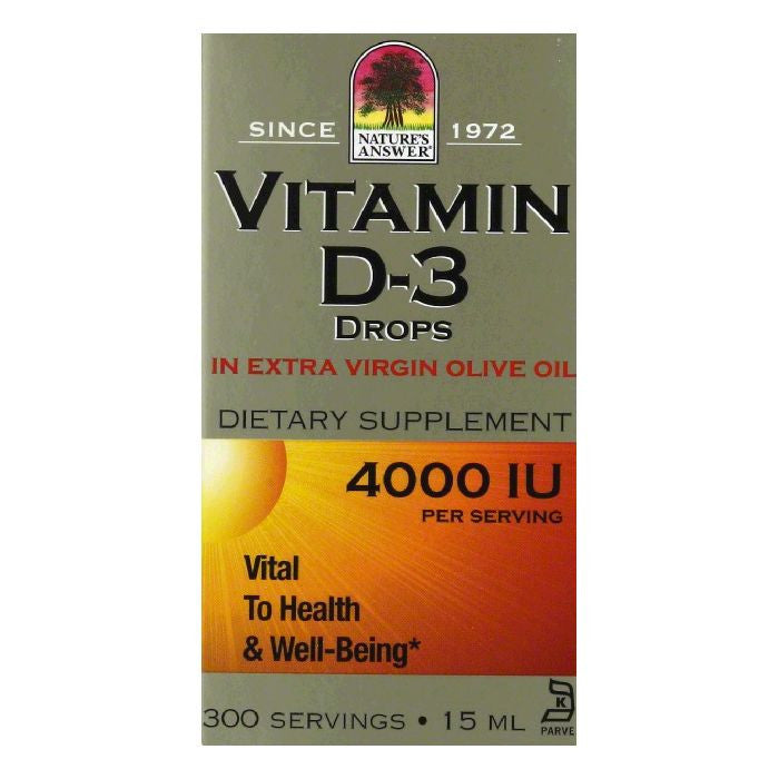 Natures Answer Drops 4000 IU Vitamin D3, 15 ml