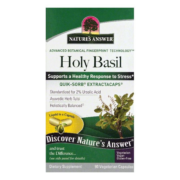 Natures Answer Vegetarian Capsules Holy Basil, 90 ea
