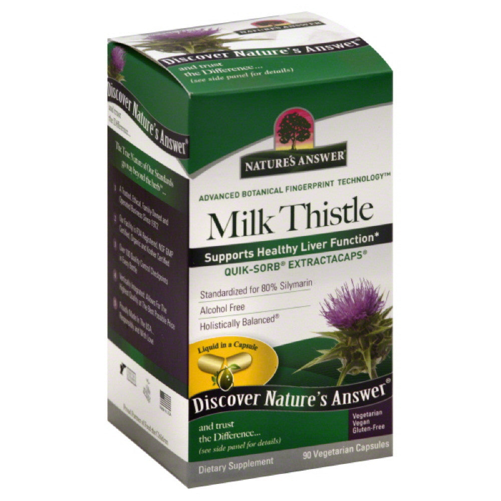 Natures Answer Vegetarian Capsules Milk Thistle, 90 Vc
