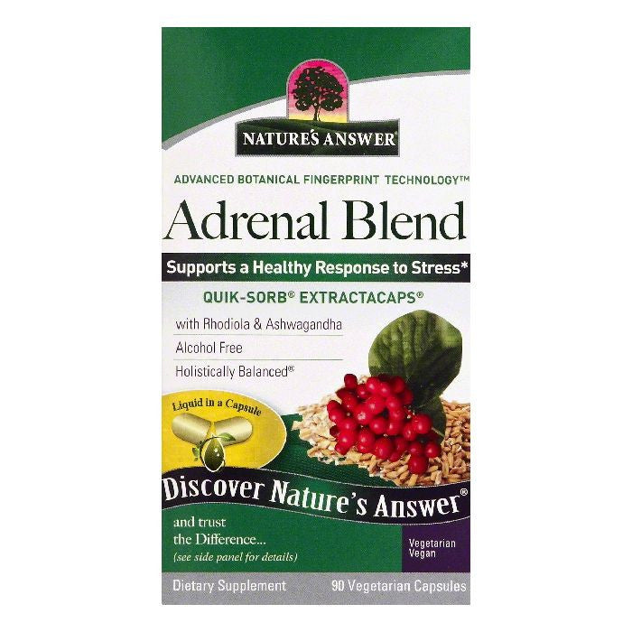 Natures Answer Vegetarian Capsules Adrenal Blend, 90 ea