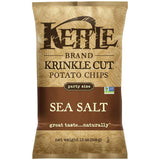 Kettle Brand Krinkle Cut Sea Salt Potato Chips 13 Oz Bag (Pack of 10)