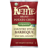 Kettle Brand Organic Country Style Barbeque Potato Chips 5 Oz Bag (Pack of 15)