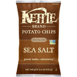 Kettle Brand Sea Salt Potato Chips 8.5 Oz Bag (Pack of 12)