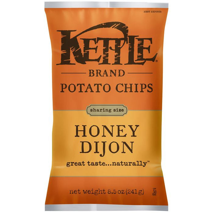 Kettle Brand Honey Dijon Potato Chips 8.5 Oz Bag (Pack of 12)