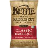 Kettle Brand Krinkle Cut Classic Barbeque Potato Chips 13 Oz Bag (Pack of 10)