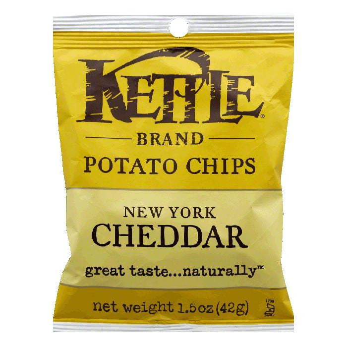 Kettle Brand New York Cheddar with Herbs Potato Chips, 1.5 OZ (Pack of 24)