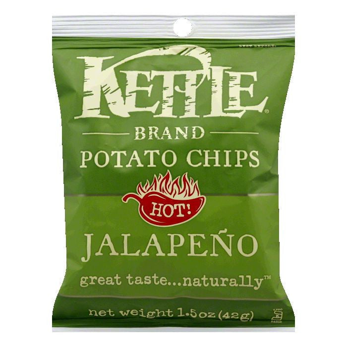 Kettle Brand Jalape?ño Potato Chips, 1.5 OZ (Pack of 24)